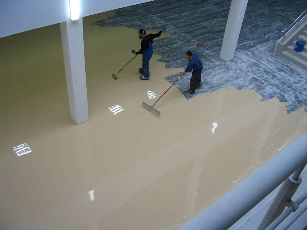 Наливные полы - фотографии работ гидроизоляция бассейнов материалы изомат