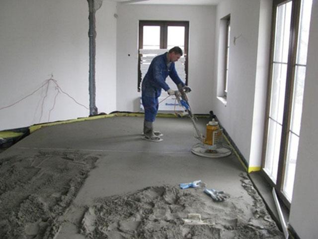 Полусухая стяжка бетона фундамент бетон расчет